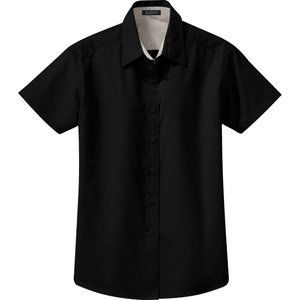NWT ZUZIFY Easy Care Button Down Shirt Large Black